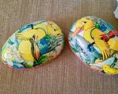 Vintage EASTER EGG Paper Mache/ Made in Western Germany/Vintage Easter Egg/Egg Candy Container
