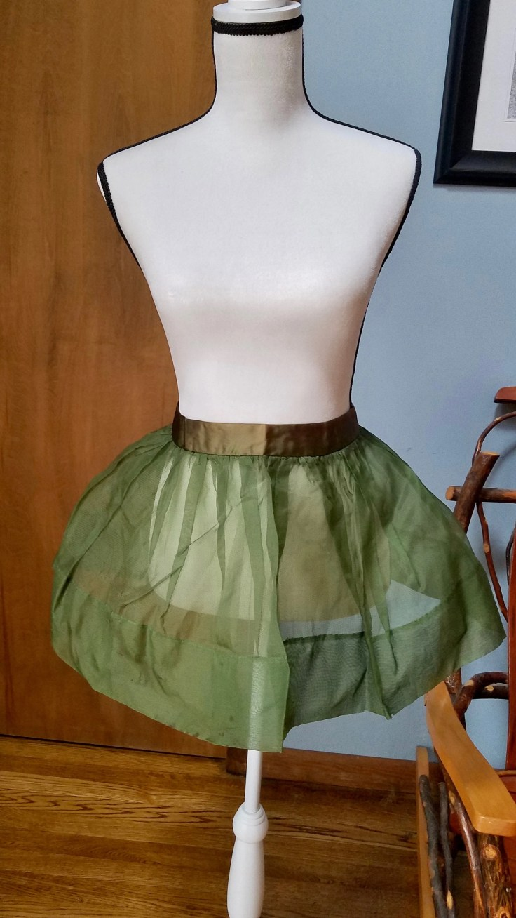 Vintage Sheer Green Cocktail Apron, Solid Green Edging Apron, Vintage Kitchen Cooking, Vintage Housewife