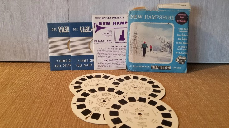 Vintage View Master Film New Hampshire, Vacationland Series,  3 reel sets Viewmaster Slide/ 1956