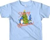 Christmas Gnomes Decorating Christmas Tree Cute Gnome Lover Short sleeve kids t-shirt