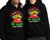 Giving Everyone My Opinion Instead of Gifts Funny Christmas Unisex Hoodie