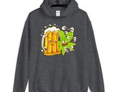 Happy Couple Wasted Funny Beer Mug and Cannabis Leaf Unisex Hoodie