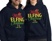 Merry Elfing Christmas Funny Elf Unisex Hoodie