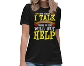 Dear Teacher I Talk Funny Back To School Womens T-Shirt