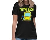 Monster Bus For Teachers and Staff Funny Back To School Gift Idea Womens T-Shirt
