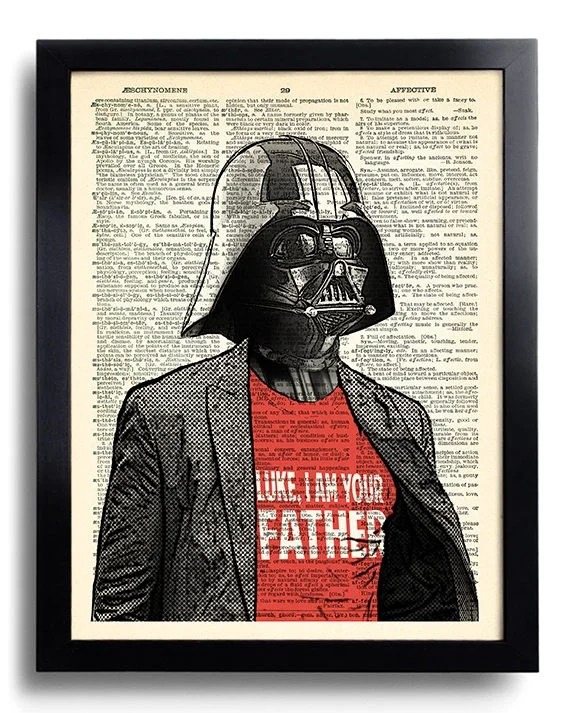 Star Wars Darth Vader I am your Father Quote Star Wars art ...