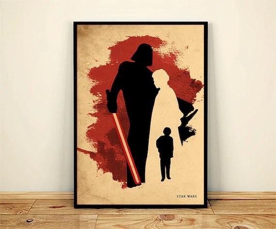 star wars anakin skywalker darth vader minimalistische poster 225gr glanzendes papier fotoqualitat