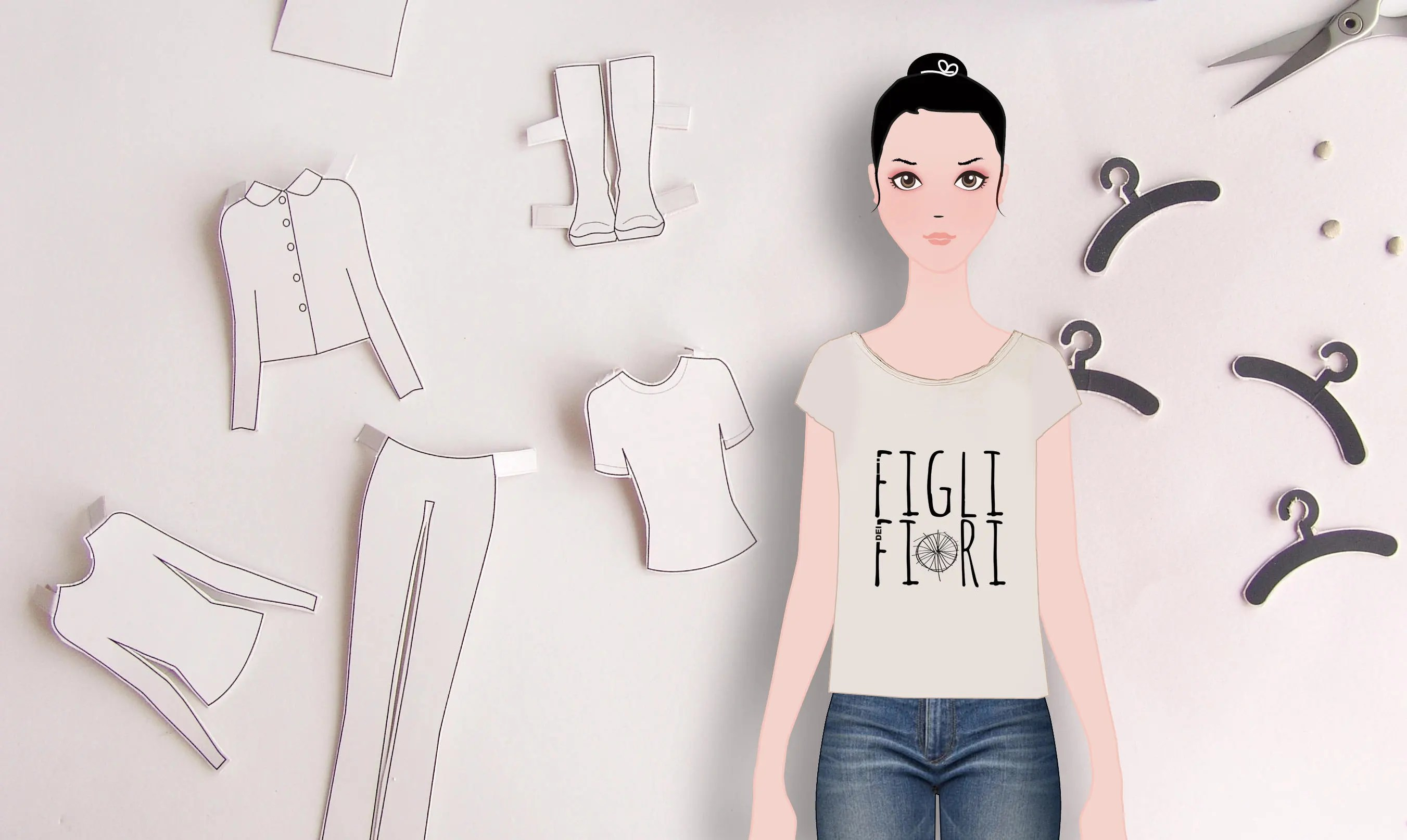 Lola Paper Doll Dress Up Doll Cut Out Doll Paperdolls