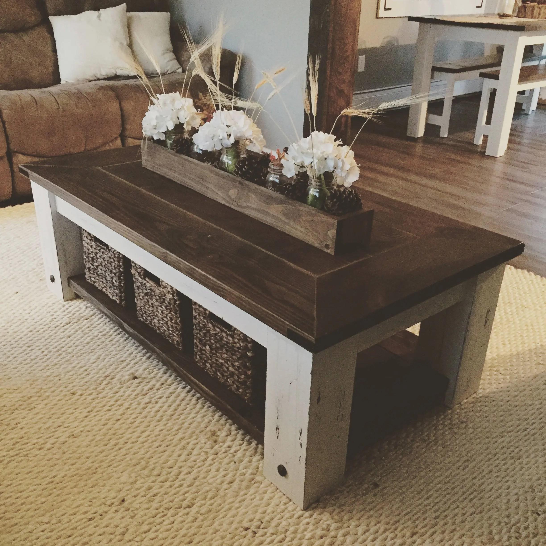DIY Farmhouse Coffee Table Plans Woodworking Plans DIY | Etsy on Coffee Table Plans  id=75451