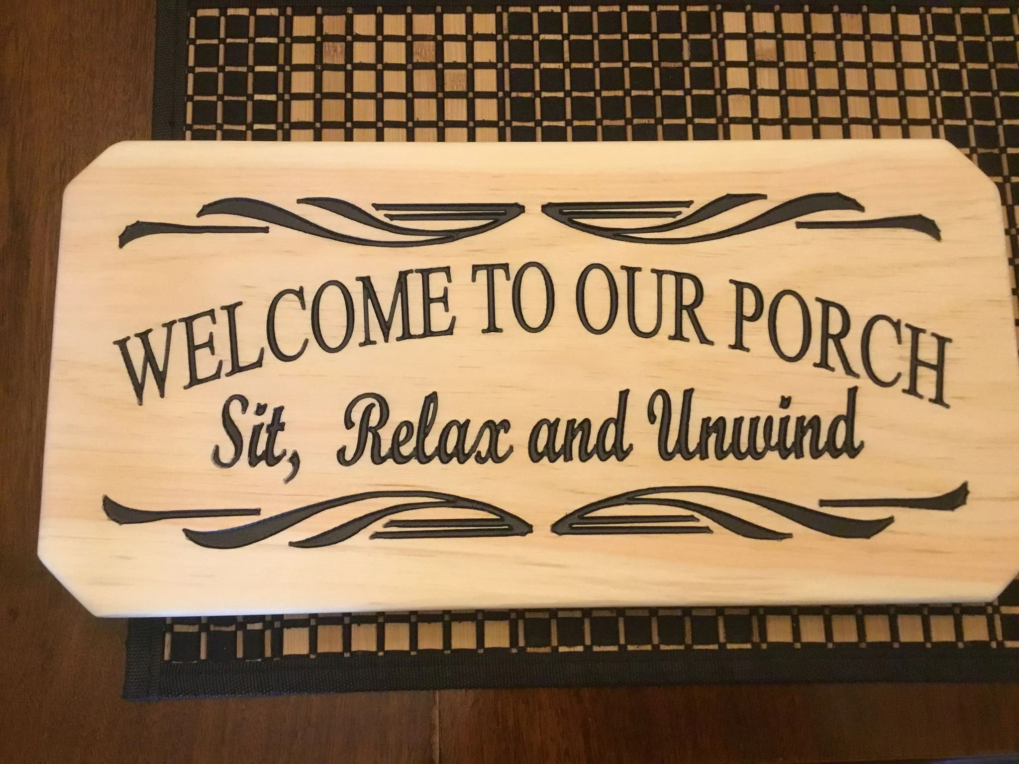welcome to our porch wood sign patio signs wooden signs