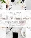 Blush Black Office Stock Photo Bundle Styled Stock Photos Etsy