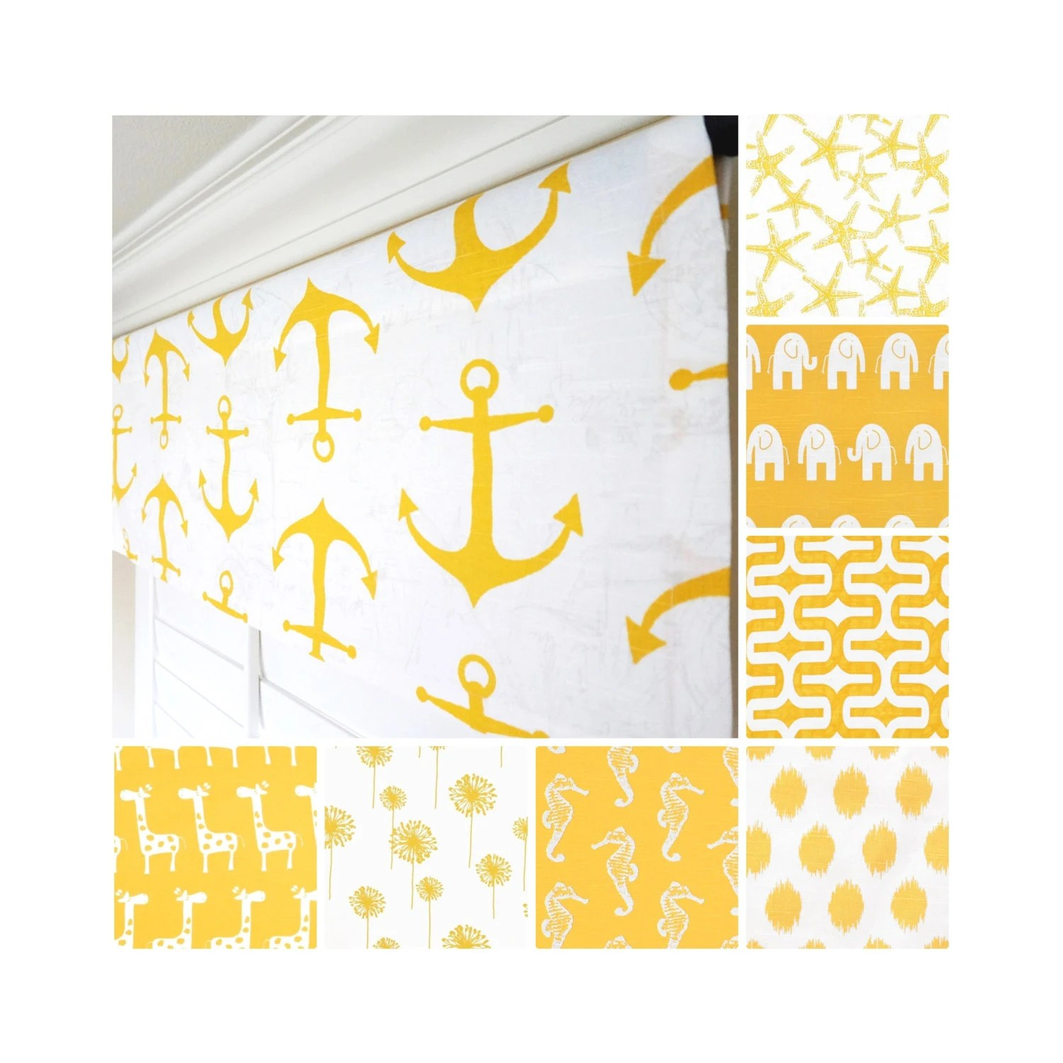 Yellow Valance Nautical Window Valancetchen Valance
