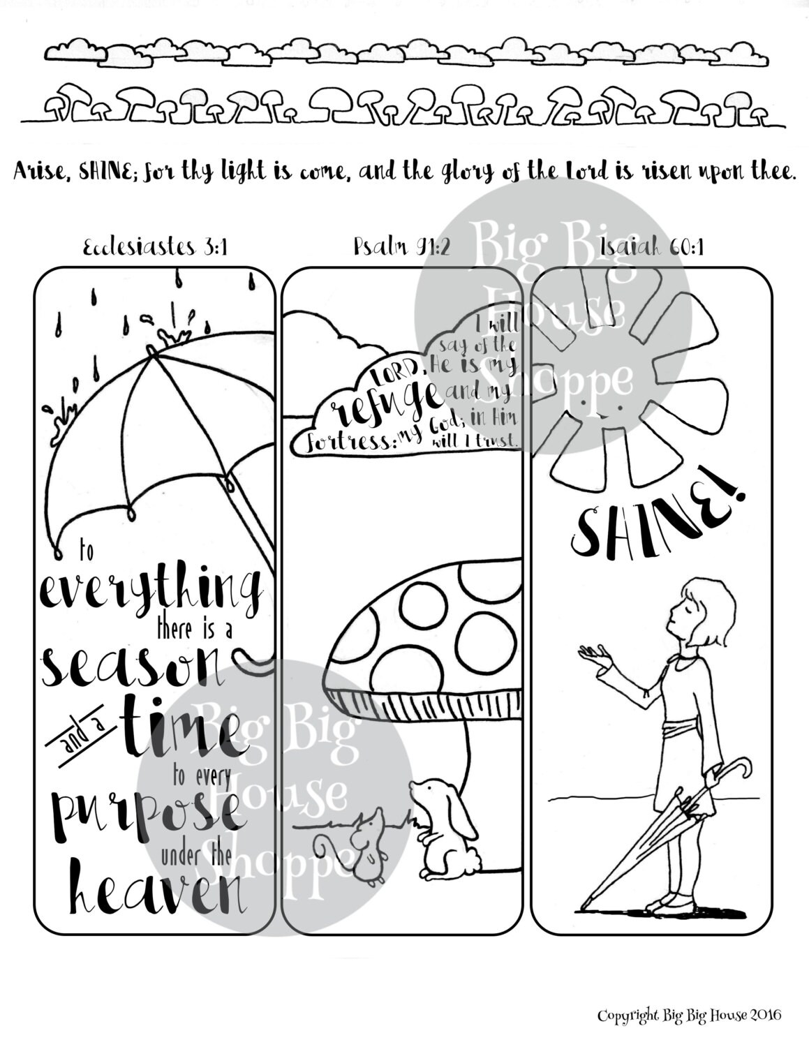 Rainy Day Margin Page For Art Journaling