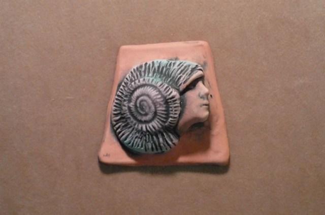 Handmade ceramic spiral s...