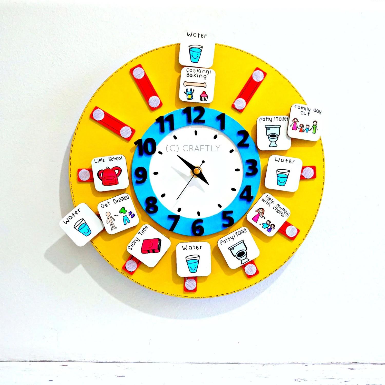 Childrens Routine Clock Visual Timetable Kids Routine