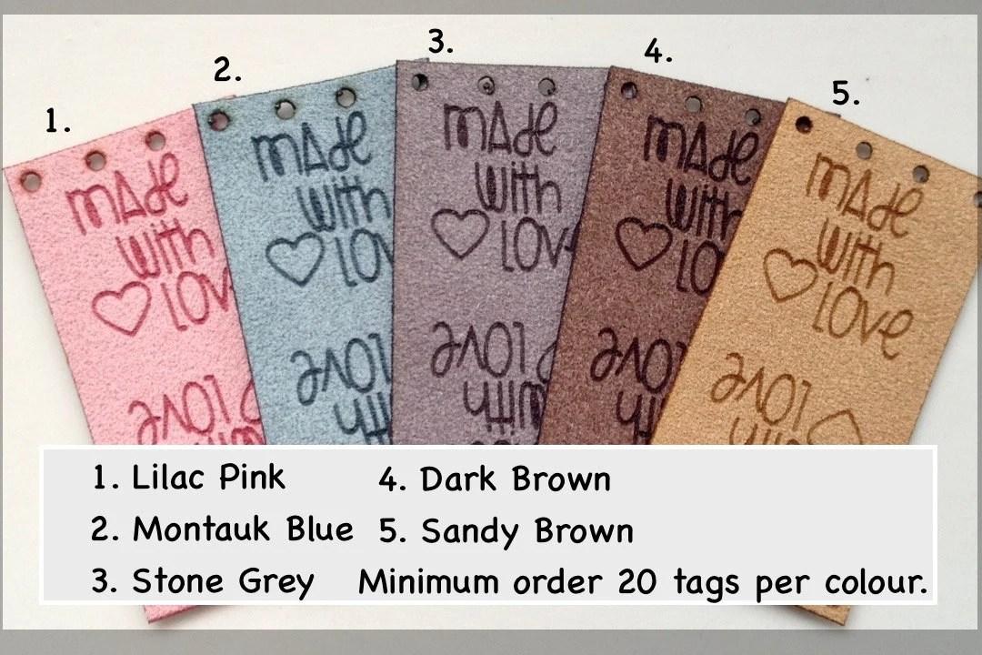 Custom tag ultra suede tag fabric custom tag personalized image 1