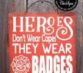 Firefighter Gift Firefighter Home Firefighter Sign Firefighter Decor Firefighter Decoration Firefighter Hero Heroes Badge 57