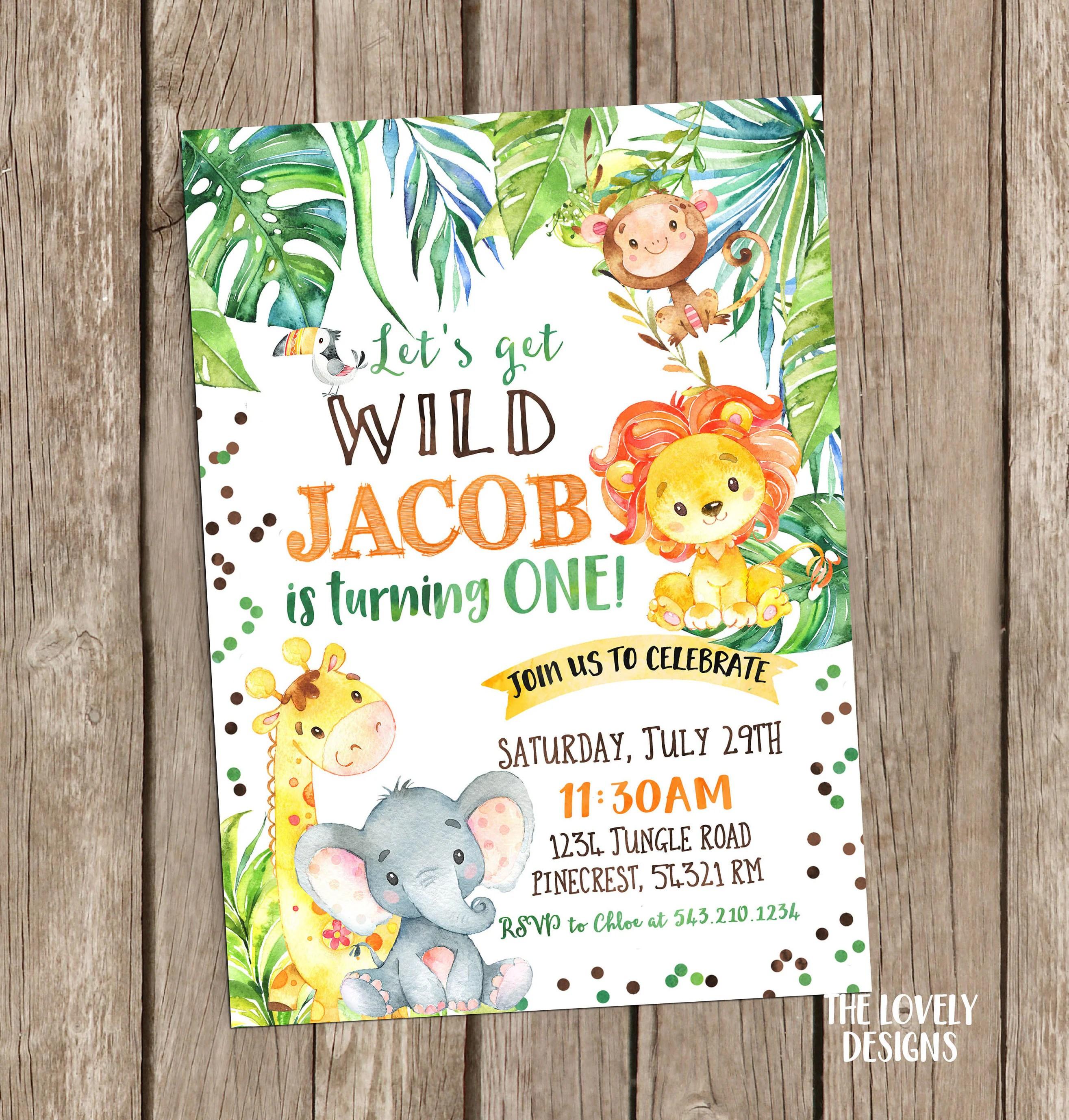 Jungle Invitation Safari Birthday Invitationsafari