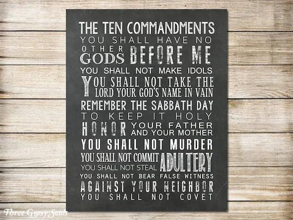 10 commandments bible # 42