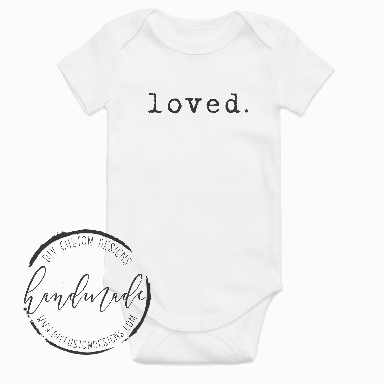 Loved Onesie Pregnancy Announcement Onesie Boho Baby
