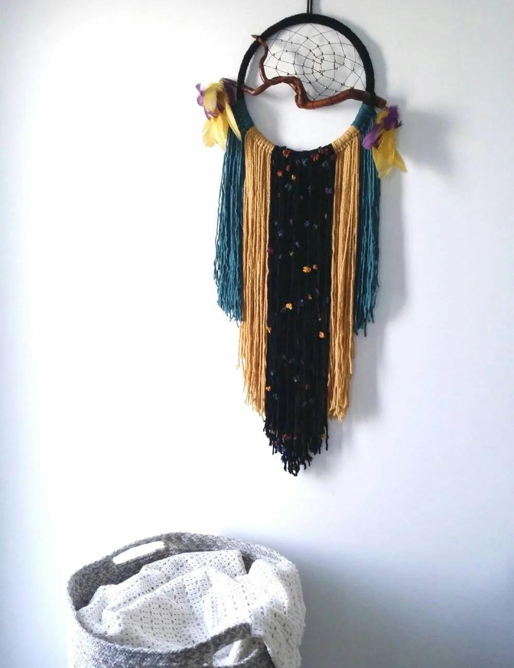 Boho bedroom decor Modern Dreamcatcher earth tone boho ... on Modern Boho Wall Decor  id=77542