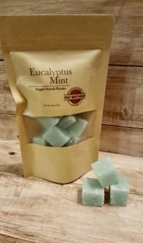 Eucalyptus Mint Sugar Scrub Rocks/Shea Butter Sugar Scrub/Spa image 3