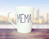MeMa Simplicity Coffee Mug - Personalized Nana, Grandma, Mimi, or Mama Coffee and Tea Mugs - Gifts for New Grandmas