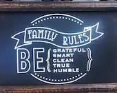 Family Rules - Be gratefu...