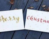 Merry Christmas - Photo Shoot Canvas Print Signs for Picture Props! Holiday Decor.