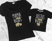 Mama Bear - Gold and Black Arrow Shirts - Baby Bear - Monogrammed Tees