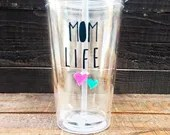 Mom Life - Personalized Mommy Tumbler - Gifts for Mama - MommyHood and MomJourney Tumblers!