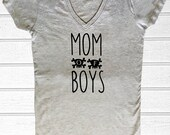Rocker Mommy Tops and Tees - Boy Mom - Mom of Boys Fitted Tees