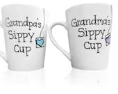 Grandma and Grandpas Sippy Cup - Coffee Mug Set for Grandparents - Gifts for Grandma and Grandpa from Grandkids