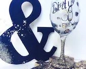 Leopard Print Dirty Thirty and Aging Like a Fine Wine - Birthday Wine Glass Gifts that can be Personalized in any way! Glitter Dipped Stems'