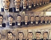 Cartoon Groomsmen Glasses - Beer stein or Wine glass option. Make any picture into a party in a mug! Unforgettable groomsman treasure!