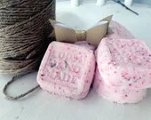 Pink Cotton Candy Organic Bath Bombs - Great for kids or adults - Stocking Stuffers - Spa Supplies and Kits - Bath Fizzies