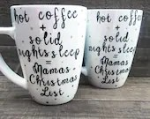Moms Christmas Mug - Gifts for Mom for Holidays! Sleepy Mama! New Mom!