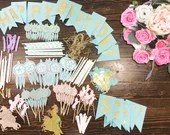 Party Packs - 100 pieces of your chose for the perfect party decor! Included cupcake toppers, banner, centerpieces and much more!