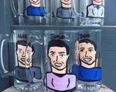 Gentlemans Charicature Beer Steins! Groomsman and Best Man or Bachelor Party Gifts!