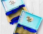 Will You Be My Bridesmaid - Personal Bridesmaid Boxes. Champaign and Teal Bridal Party Gifts for after Engagement!
