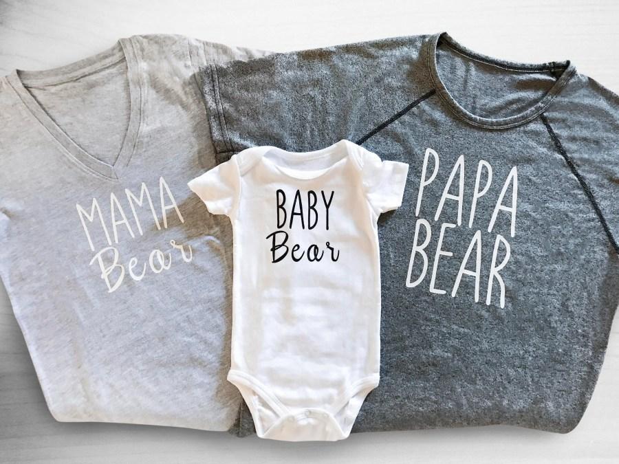 Family Bear Shirts - Mama...