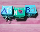 Be My Ring Bearer - Flower Girl and ring Bearer Ring Pop Boxes - Bridal Party Favors