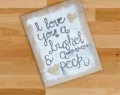 I Love You a Bushel & a Peck Burlap Canvas - Wall Art for Loved Ones - I love you a bushel and a peck and a hug around the neck.