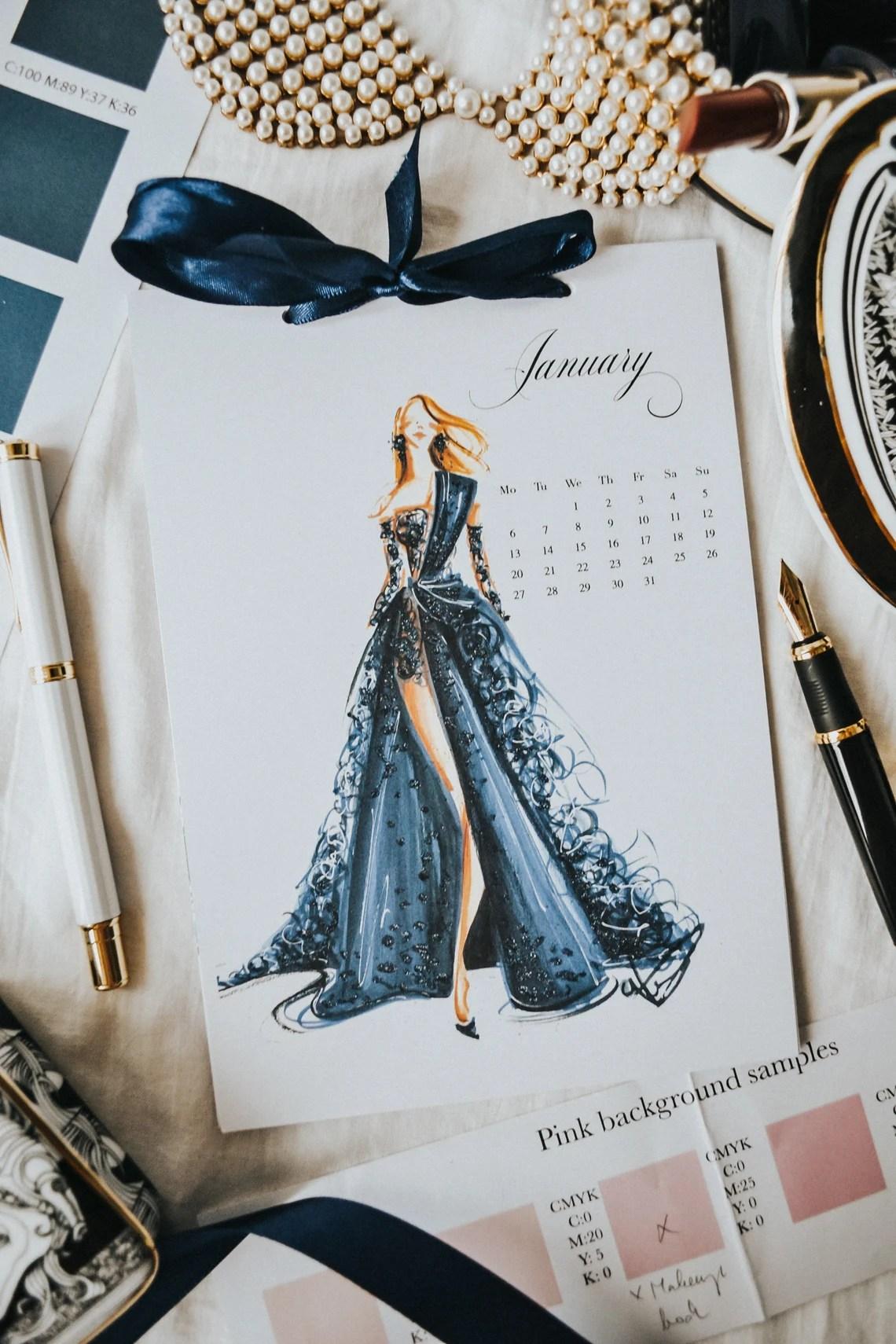 2021 Fashion Calendar Luxury Calendar 2021 Fashion image 2