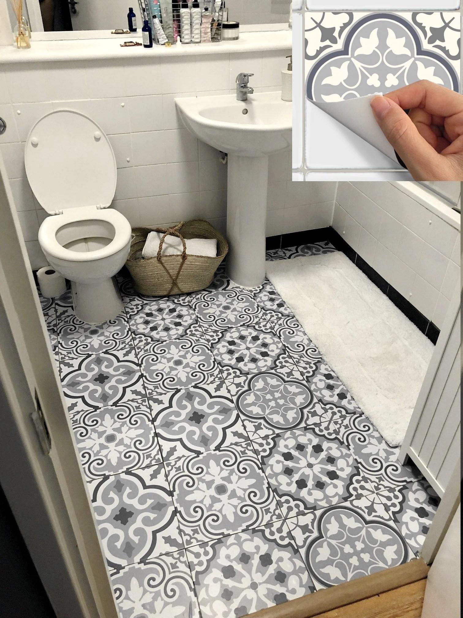 tile stickers waterproof removable backsplash bathroom floor etsy
