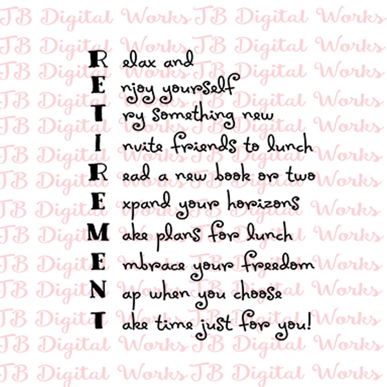 Retirement Acrostic Poem For Retired Svg T For Coworker