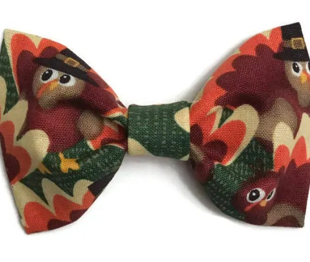 Boys Thanksgiving Bow Tie Fall Bow Tie Holiday Bow Tie Turkey Bow Tie Thanksgiving Turkey Bow Tie Clip On Bow Tie Preppy Toddler
