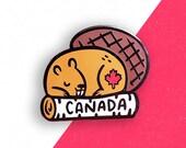 Canadian Beaver Enamel Pin