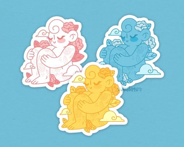 Cloud Cuties Weatherproof Stickers