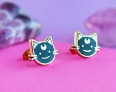 Luna Cat Stud Earrings | gifts for her, for cat lovers, cat jewelry
